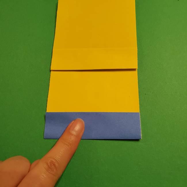 ミニオンの折り紙 折り方(平面)2(13)