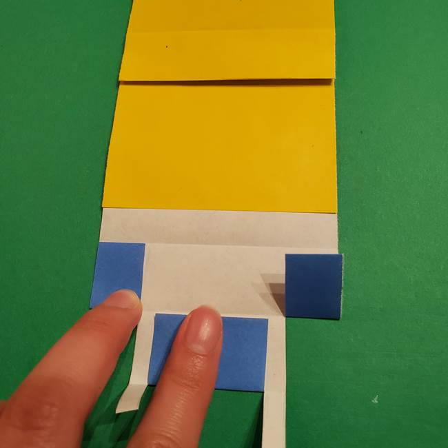 ミニオンの折り紙 折り方(平面)2(19)