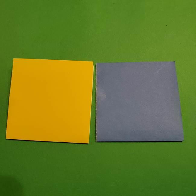 ミニオンの折り紙 折り方(平面)2(2)
