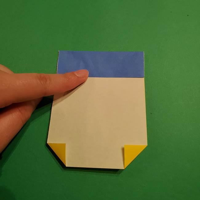 ミニオンの折り紙 折り方(平面)2(7)