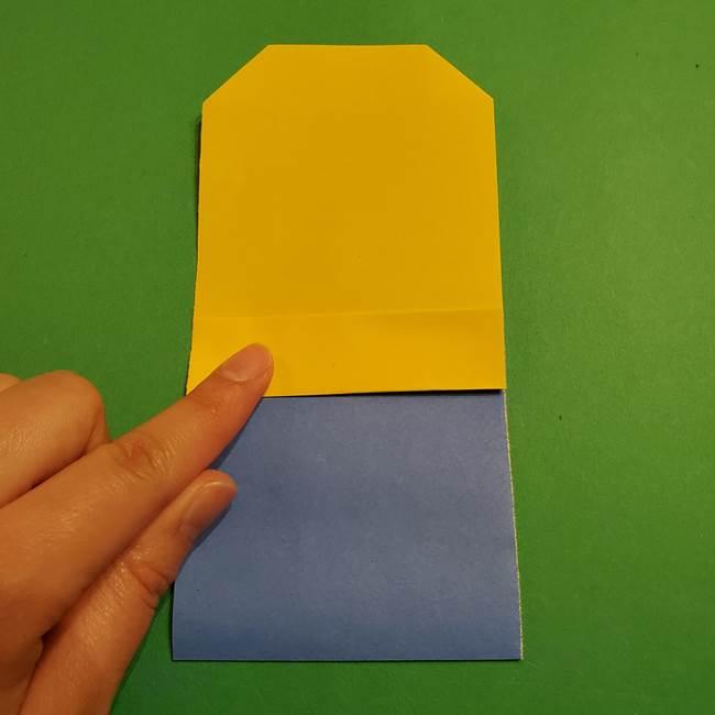 ミニオンの折り紙 折り方(平面)2(8)