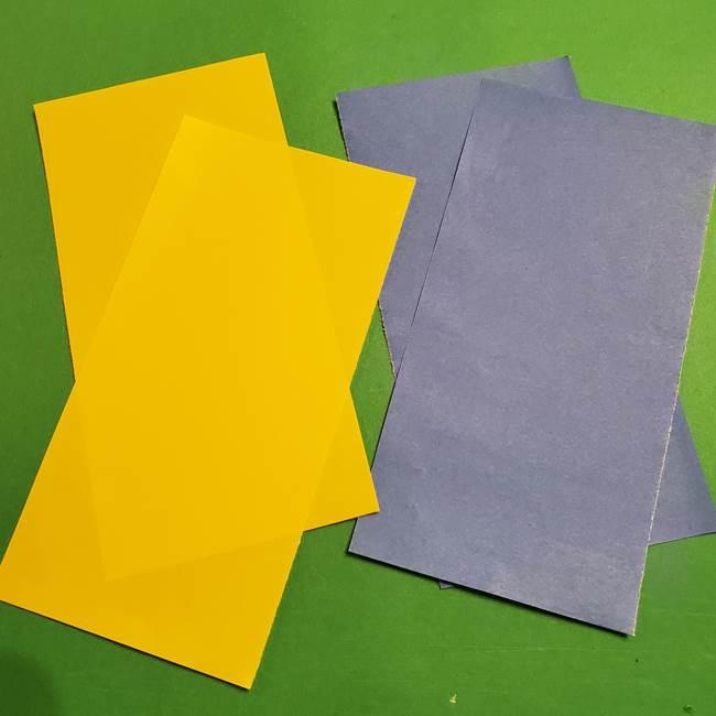 ミニオンの折り紙 折り方(平面)(3)