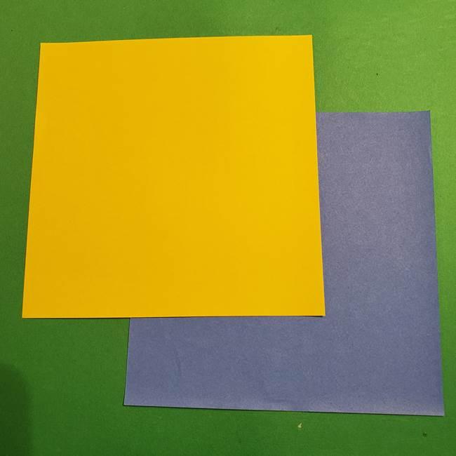 ミニオンズの折り紙(平面のボブ・ケビン)用意するもの(1)