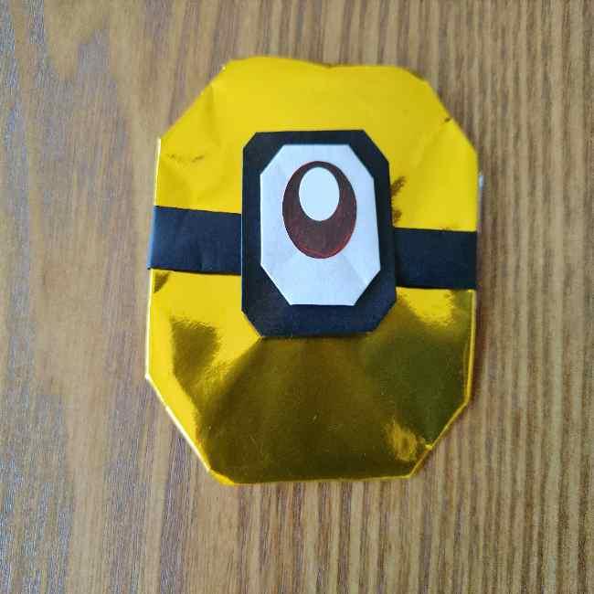 ミニオン 折り紙のメダルの作り方・折り方 (22)