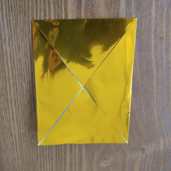 ミニオン 折り紙のメダルの作り方・折り方 (3)