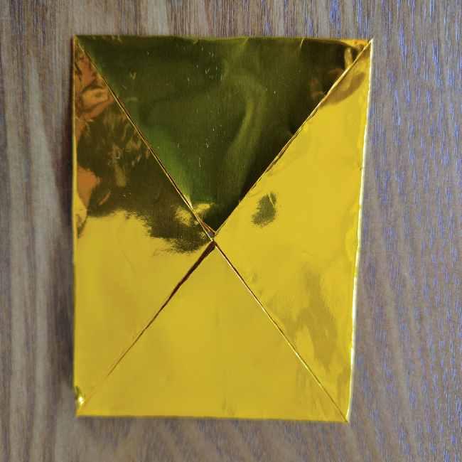 ミニオン 折り紙のメダルの作り方・折り方 (4)