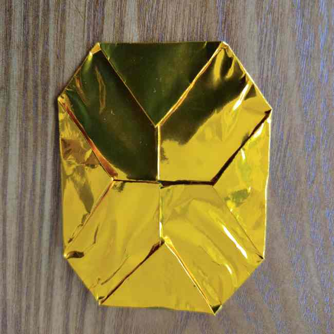 ミニオン 折り紙のメダルの作り方・折り方 (5)