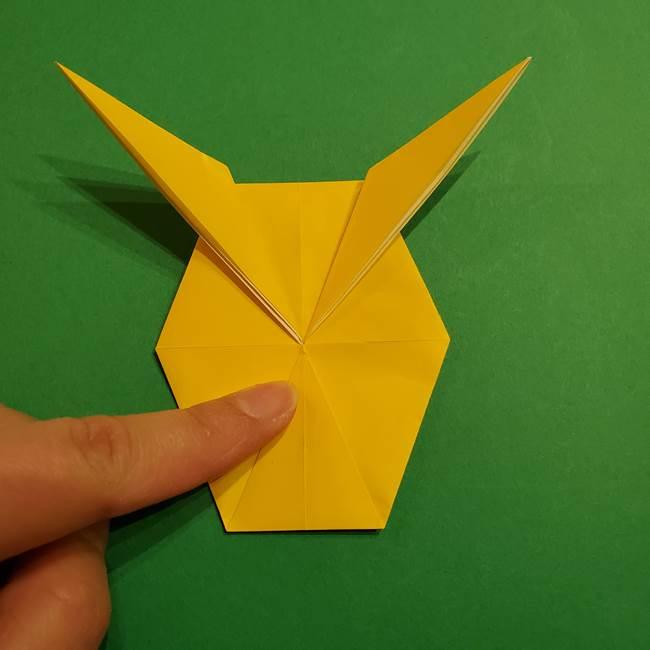 ミミッキュ 折り紙の折り方作り方1顔(27)