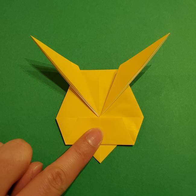 ミミッキュ 折り紙の折り方作り方1顔(28)