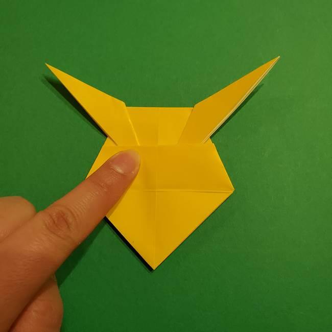 ミミッキュ 折り紙の折り方作り方1顔(29)