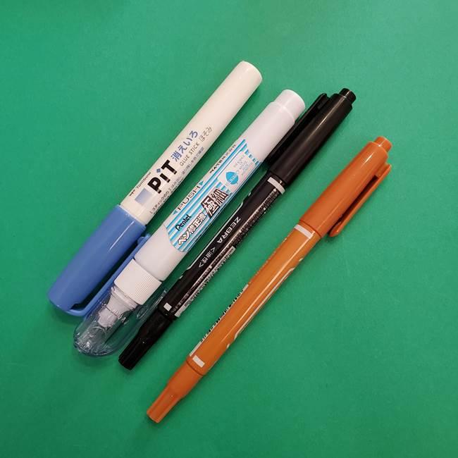 ミュウツーの折り紙の作り方*材料と道具(2)