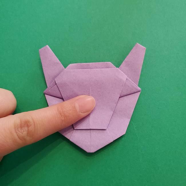 ミュウツーの折り紙の折り方作り方(46)