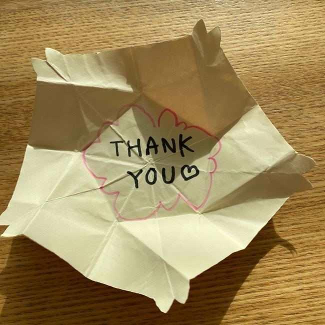 桜の折り紙 メッセージカードの折り方作り方