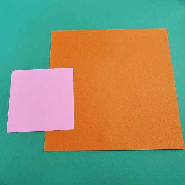 折り紙でアイスクリームコーン(立体)をつくるには?(1)