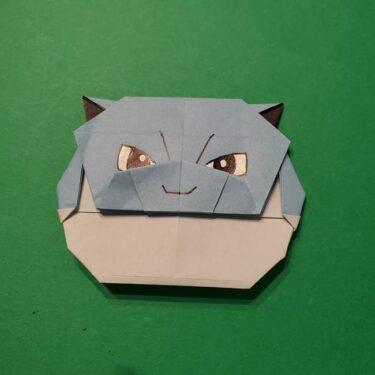 折り紙でポケモンのカメックスをつくる折り方作り方☆簡単か作ってみた♪