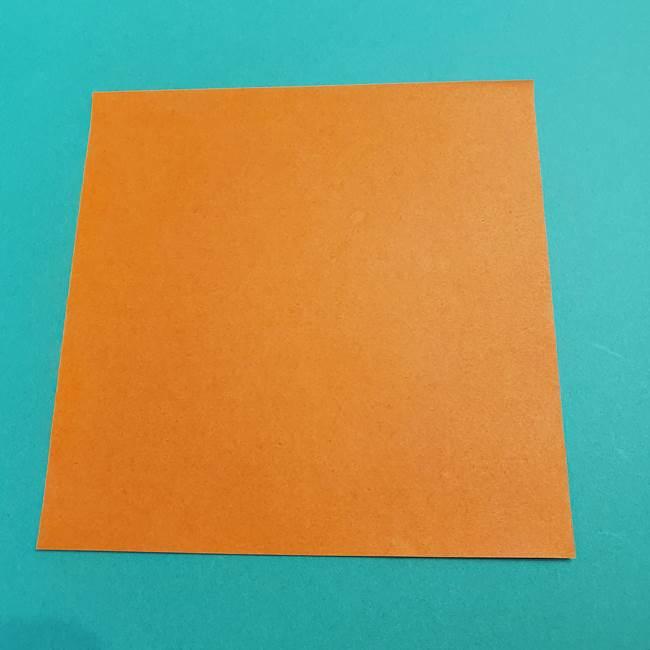 折り紙のアイスクリームコーン 立体的な折り方作り方1(1)