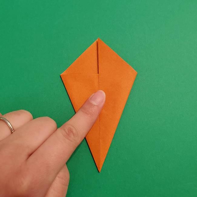 折り紙のアイスクリームコーン 立体的な折り方作り方1(10)