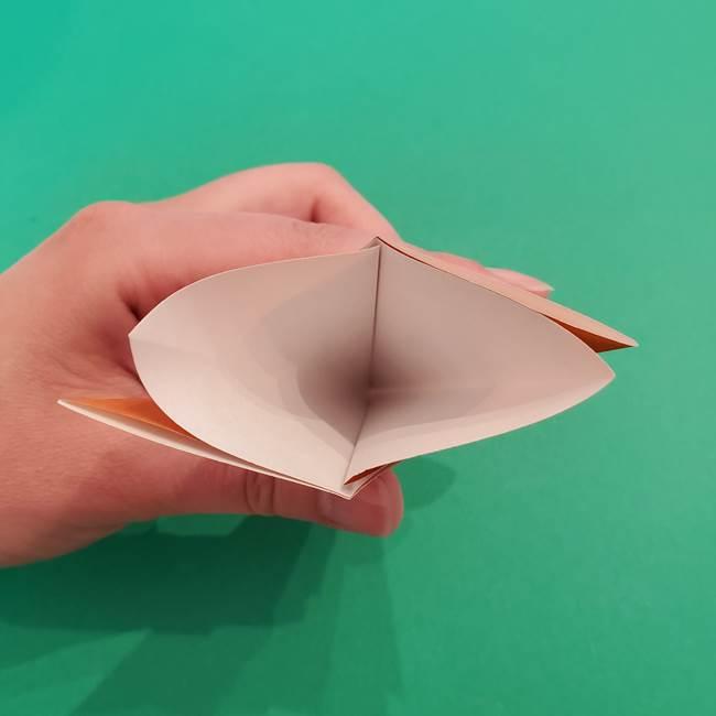折り紙のアイスクリームコーン 立体的な折り方作り方1(12)