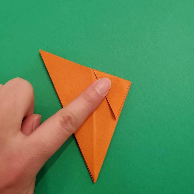 折り紙のアイスクリームコーン 立体的な折り方作り方1(15)