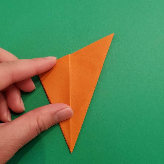 折り紙のアイスクリームコーン 立体的な折り方作り方1(16)