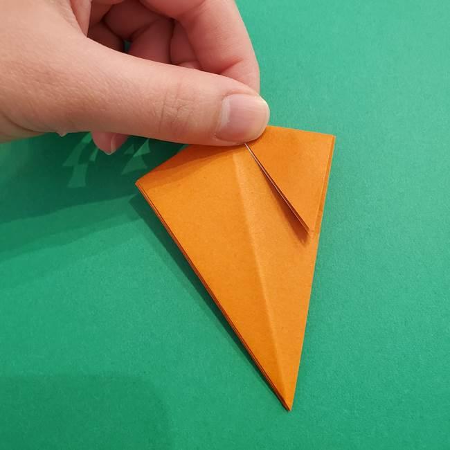 折り紙のアイスクリームコーン 立体的な折り方作り方1(17)