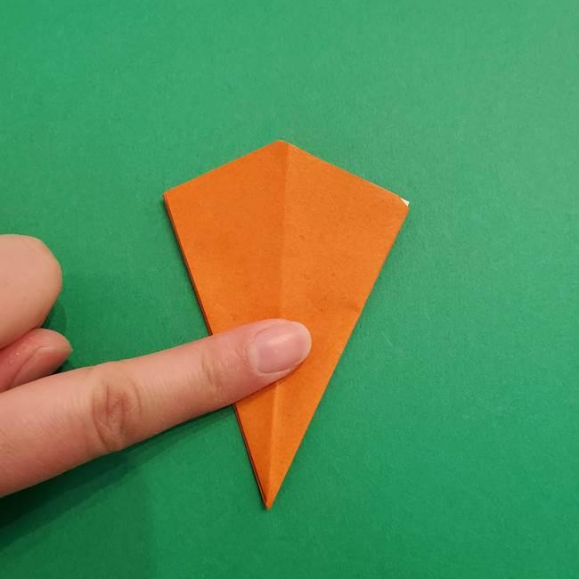 折り紙のアイスクリームコーン 立体的な折り方作り方1(19)