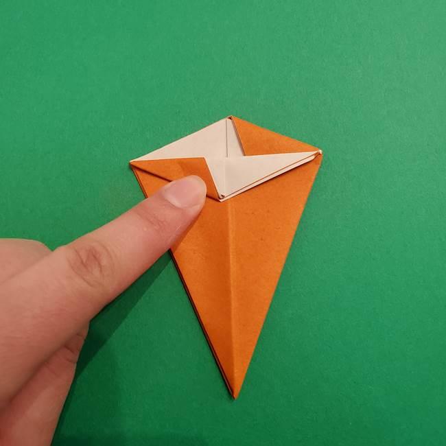 折り紙のアイスクリームコーン 立体的な折り方作り方1(20)