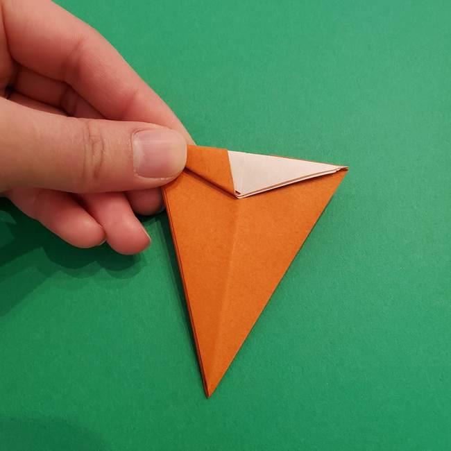 折り紙のアイスクリームコーン 立体的な折り方作り方1(21)