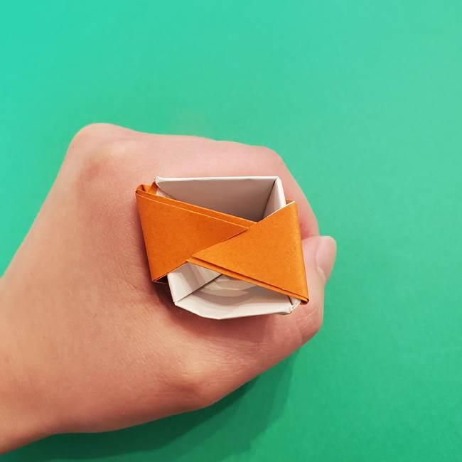 折り紙のアイスクリームコーン 立体的な折り方作り方1(22)