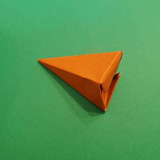 折り紙のアイスクリームコーン 立体的な折り方作り方1(28)