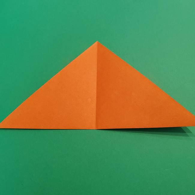 折り紙のアイスクリームコーン 立体的な折り方作り方1(4)