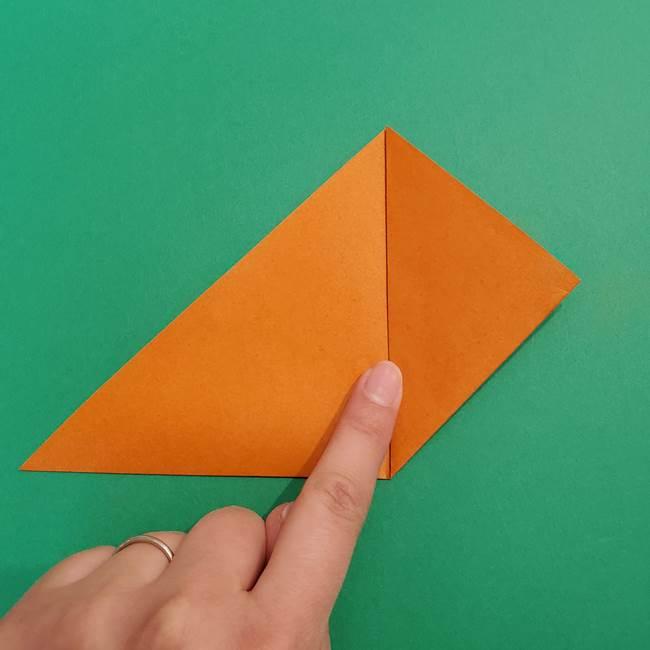 折り紙のアイスクリームコーン 立体的な折り方作り方1(5)