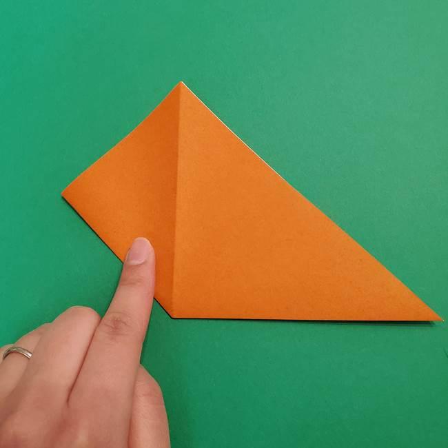折り紙のアイスクリームコーン 立体的な折り方作り方1(6)