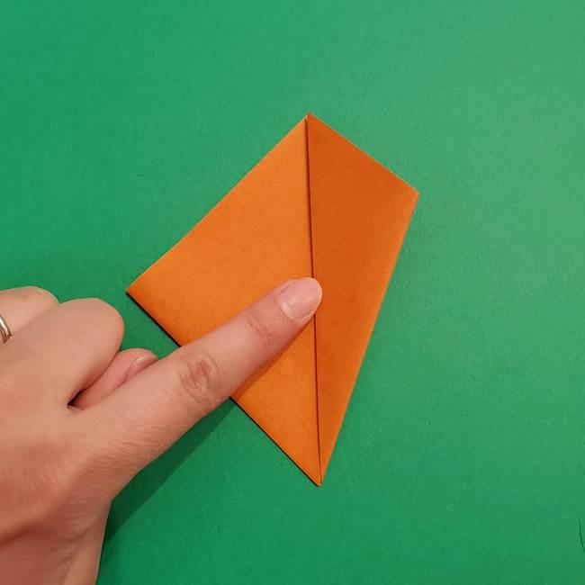 折り紙のアイスクリームコーン 立体的な折り方作り方1(9)