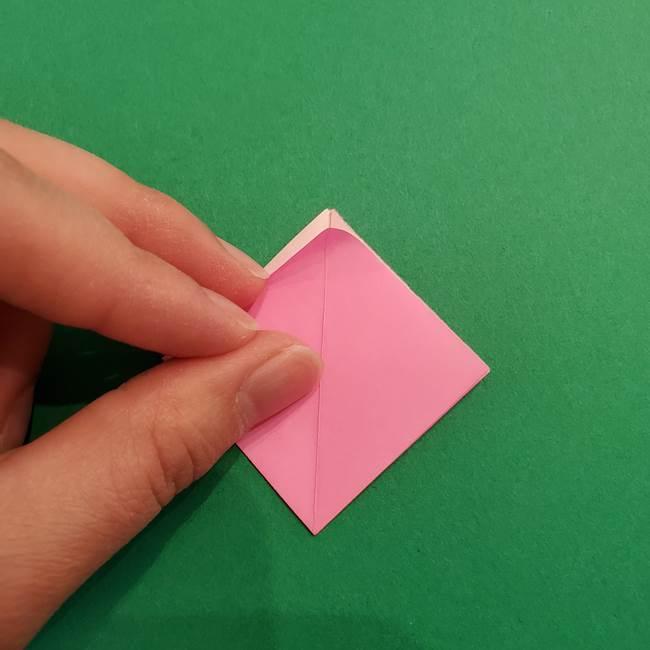 折り紙のアイスクリームコーン 立体的な折り方作り方2(10)