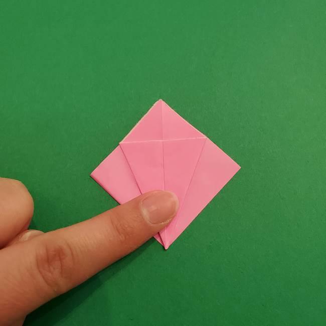 折り紙のアイスクリームコーン 立体的な折り方作り方2(11)