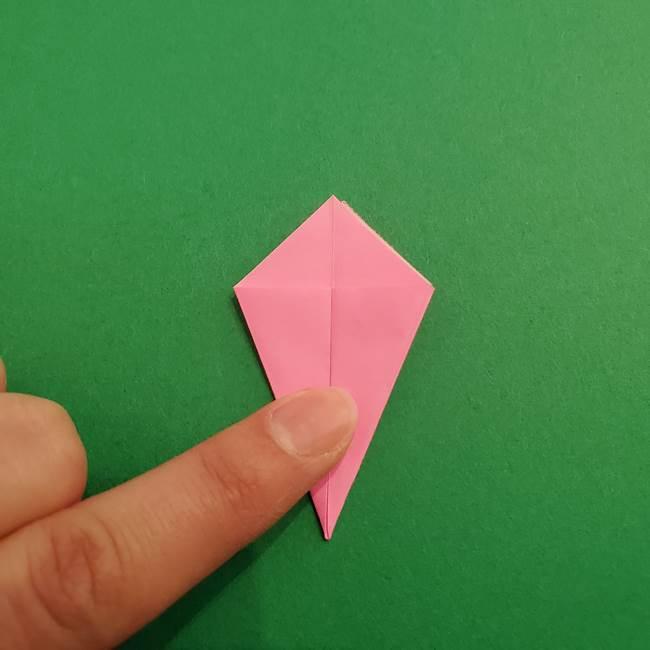 折り紙のアイスクリームコーン 立体的な折り方作り方2(12)