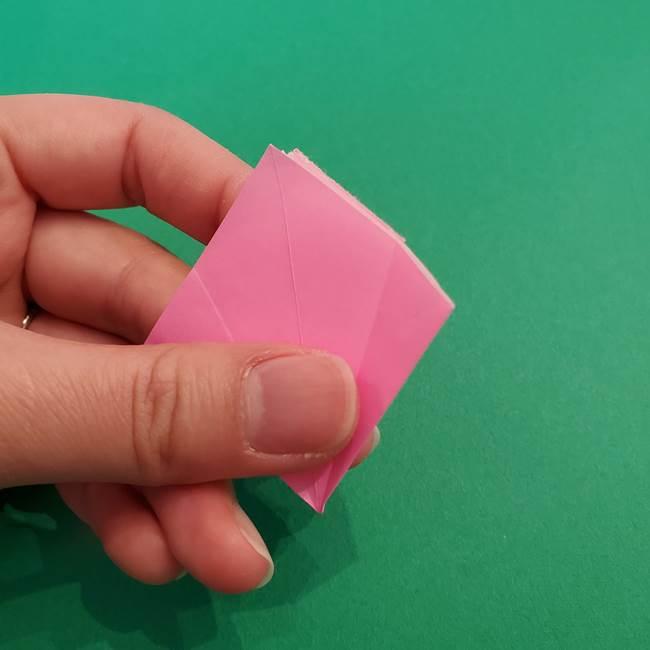 折り紙のアイスクリームコーン 立体的な折り方作り方2(13)