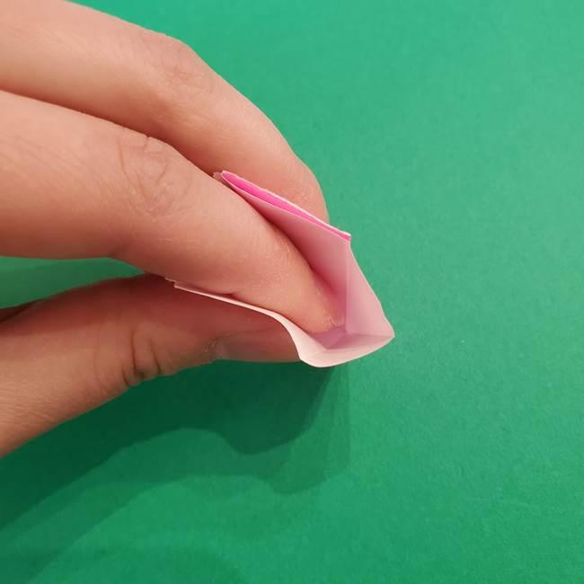 折り紙のアイスクリームコーン 立体的な折り方作り方2(14)