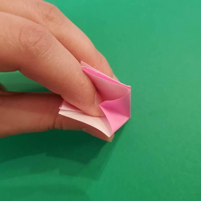 折り紙のアイスクリームコーン 立体的な折り方作り方2(15)