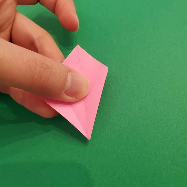 折り紙のアイスクリームコーン 立体的な折り方作り方2(16)