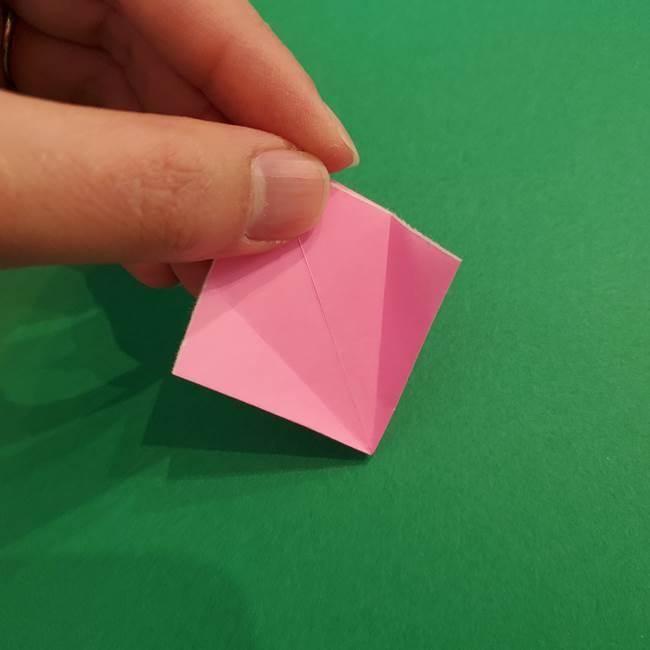 折り紙のアイスクリームコーン 立体的な折り方作り方2(18)
