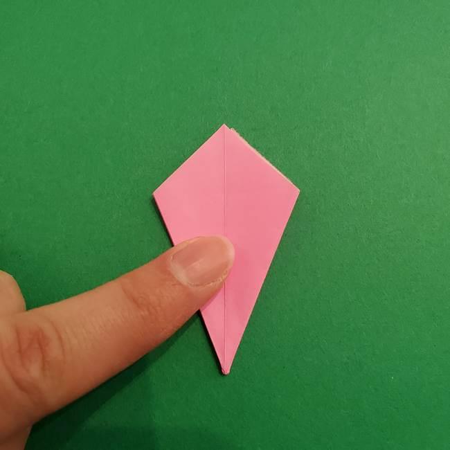 折り紙のアイスクリームコーン 立体的な折り方作り方2(19)