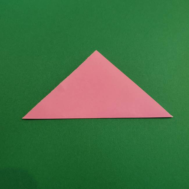 折り紙のアイスクリームコーン 立体的な折り方作り方2(2)
