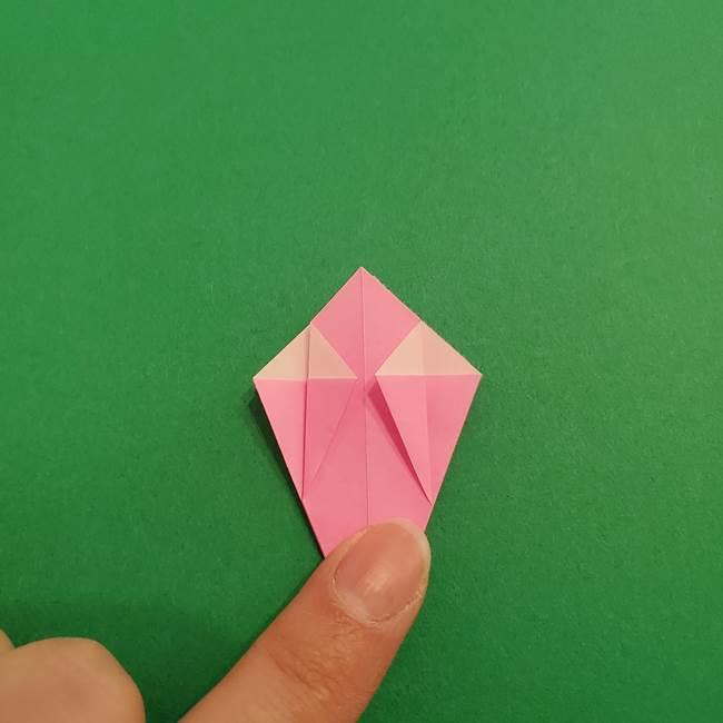 折り紙のアイスクリームコーン 立体的な折り方作り方2(20)