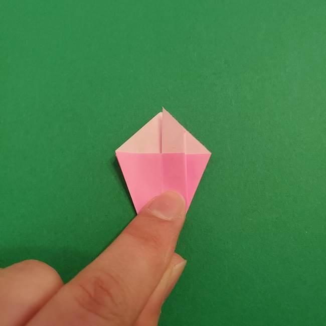 折り紙のアイスクリームコーン 立体的な折り方作り方2(21)