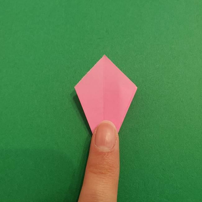 折り紙のアイスクリームコーン 立体的な折り方作り方2(22)