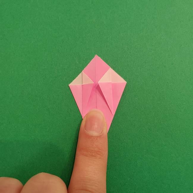 折り紙のアイスクリームコーン 立体的な折り方作り方2(23)