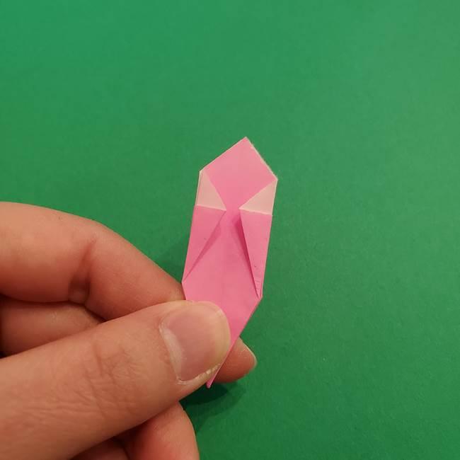 折り紙のアイスクリームコーン 立体的な折り方作り方2(24)