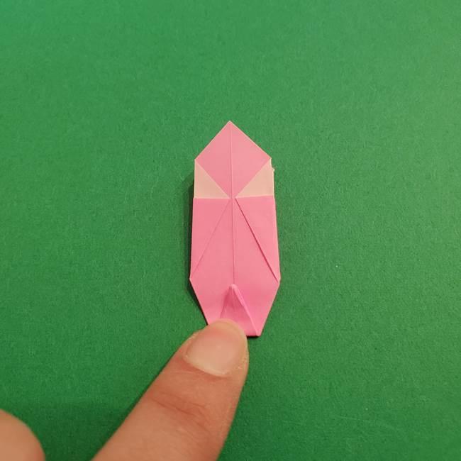 折り紙のアイスクリームコーン 立体的な折り方作り方2(26)